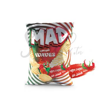 Madchips waves بنكهة الفلفل الحار
