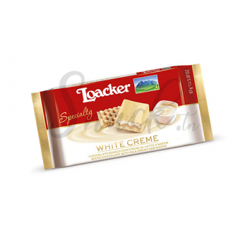 Loacker chocolate specialty white creme 87g