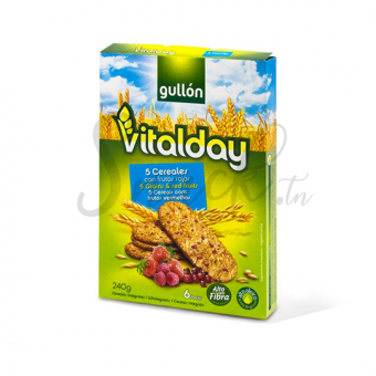 Gullon Vitalday 5grains & red fruit 240g