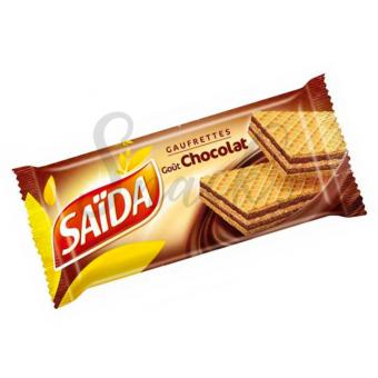 Saida gaufrettes goût chocolat